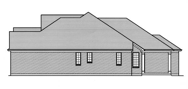 Right Side Elevation image of Hilliard House Plan
