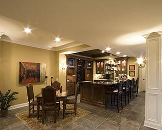 Basement Bar by DFD House Plans