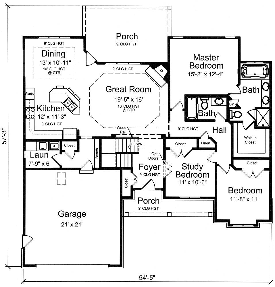 First Floor Plan image of Turnberry House Plan