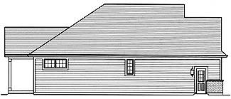 Left Elevation image of Turnberry House Plan