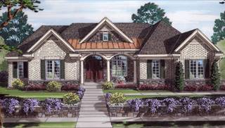 Edgewater Front Rendering by DFD House Plans