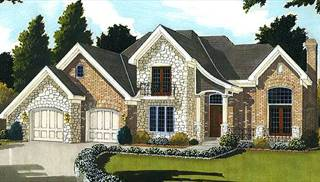 Chapell Hill II Front Elevation by DFD House Plans