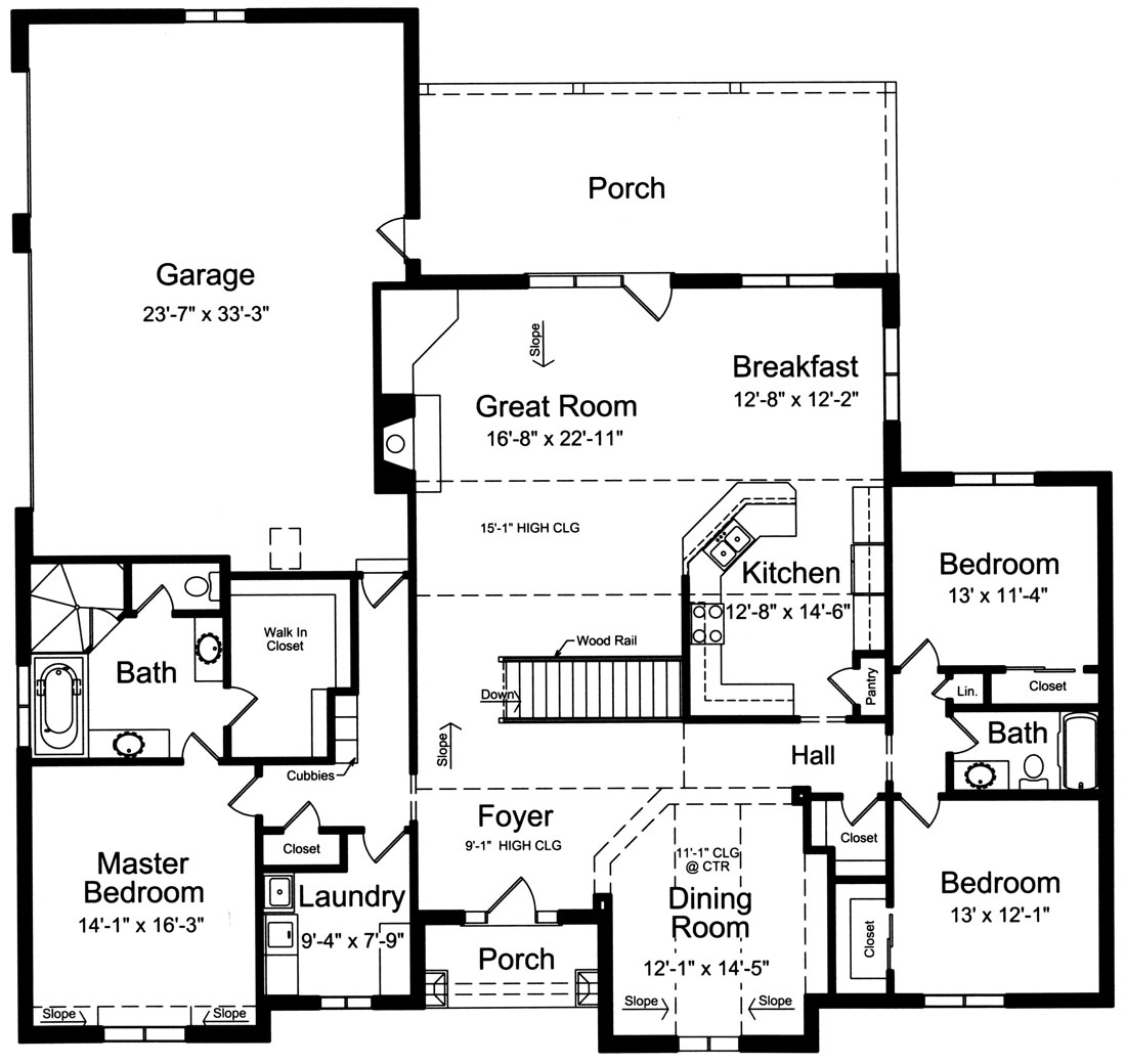 1st Floor Plan image of Marquis House Plan