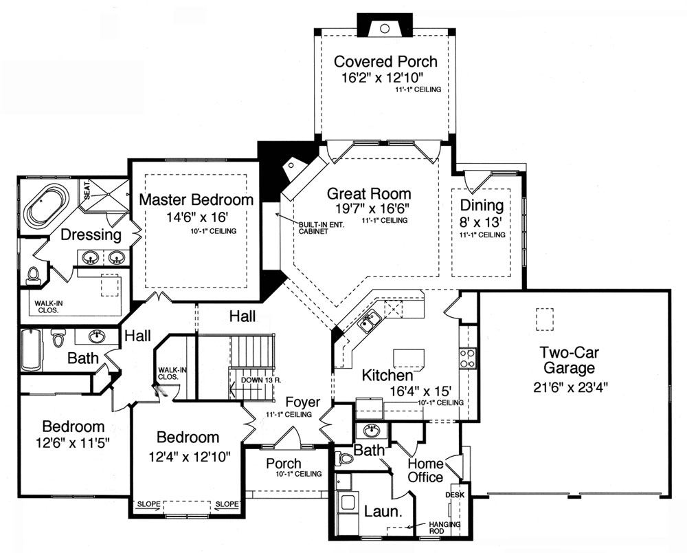 Craftsman House Plan with 3 Bedrooms and 25 Baths Plan 9078