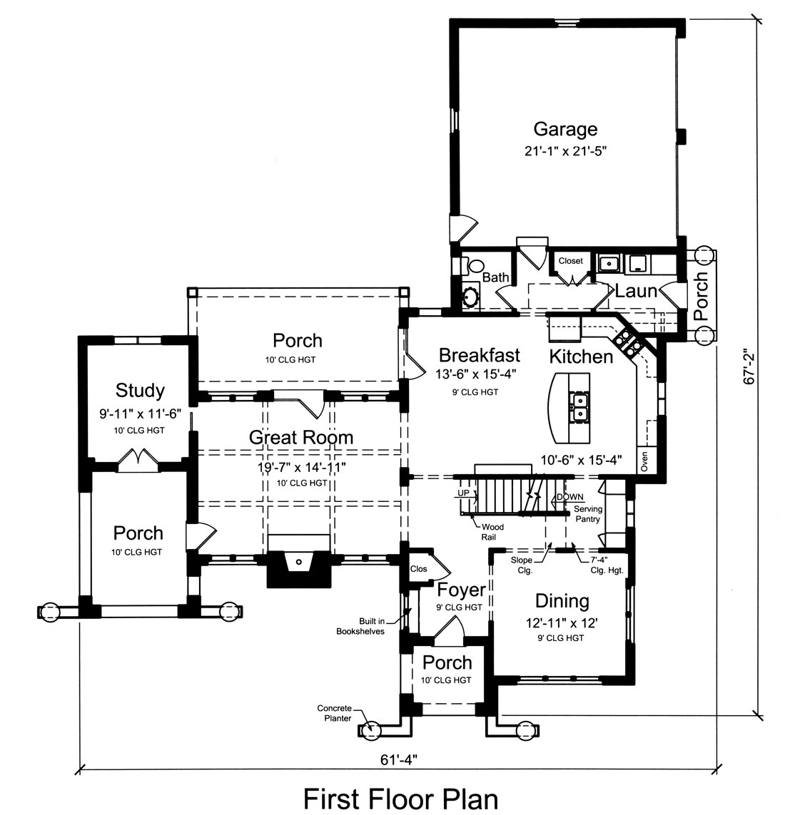 Contemporary House Plan With 4 Bedrooms And 3 5 Baths