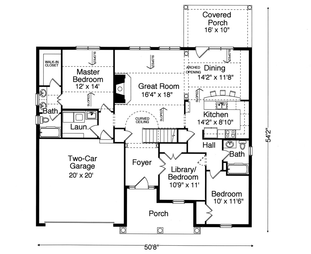 Ranch house plan with 3 bedrooms and 2 5 baths plan 9077 for Dfd house plans 1897