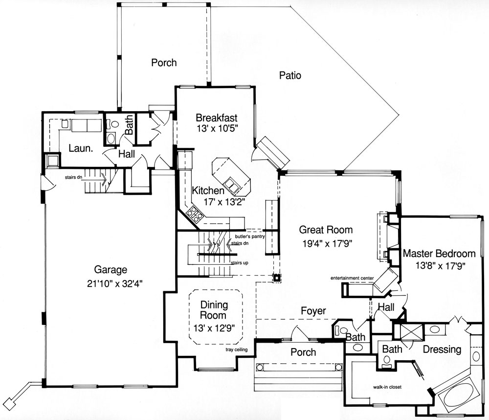 French country house plan with 4 bedrooms and 2 5 baths for Dfd house plans 1897