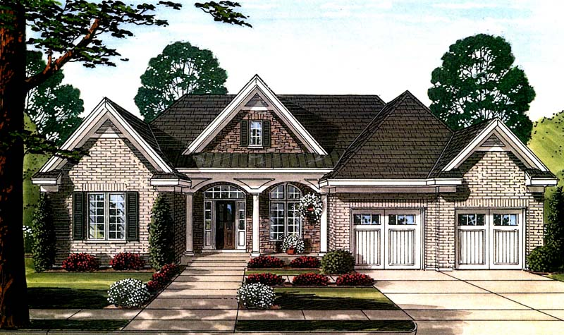 Front Rendering image of Hilliard House Plan
