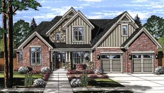 Glen Arbor Front Rendering by DFD House Plans