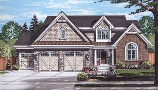 Whitford Front Rendering by DFD House Plans