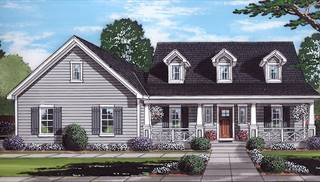 Wynfield front rendering by DFD House Plans