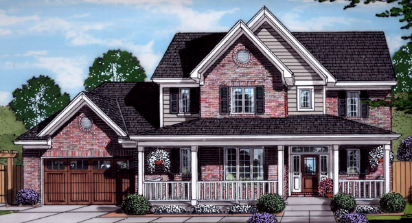 Front Rendering image of The Shalimar House Plan