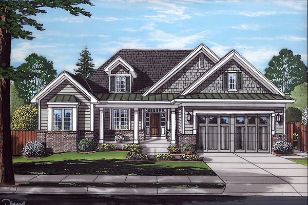 Front Rendering image of Baldwin House Plan
