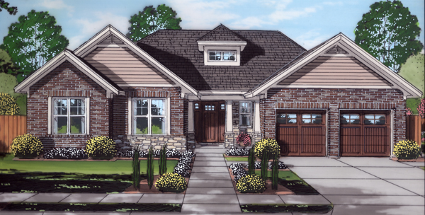 Front Rendering image of The Portland House Plan