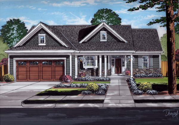 Front Rendering image of Eagle's View House Plan