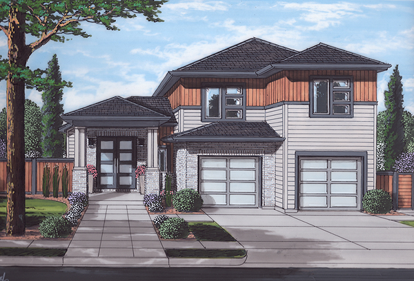 Front Rendering image of The Valencia House Plan