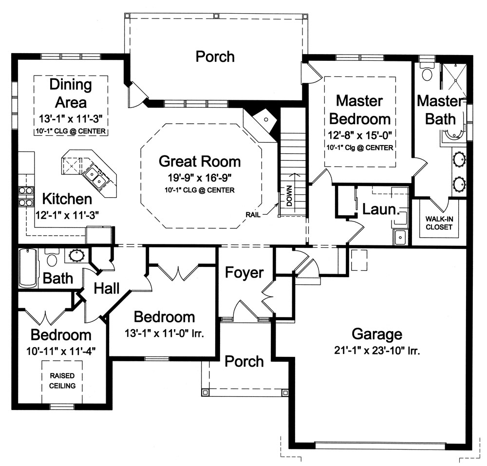 French Country House Plan with 3 Bedrooms and 2.5 Baths - Plan 9043
