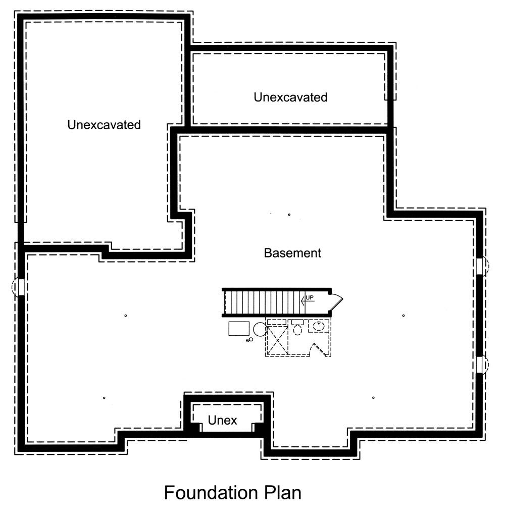 Basement Floor Plan image of Marquis House Plan