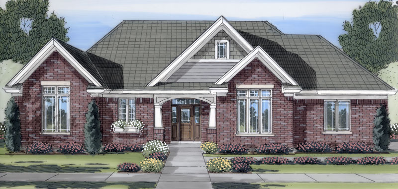 Front View image of Marquis House Plan