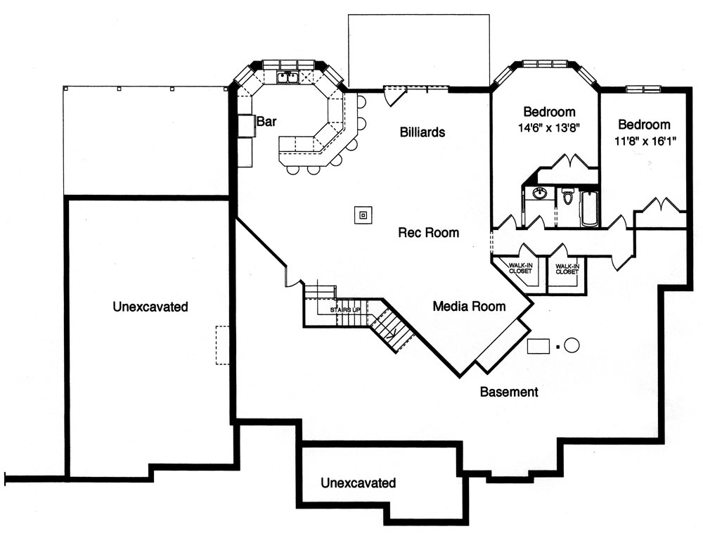 House hunters glen house plan green builder house plans - Semi basement house plans multifunctional spaces ...
