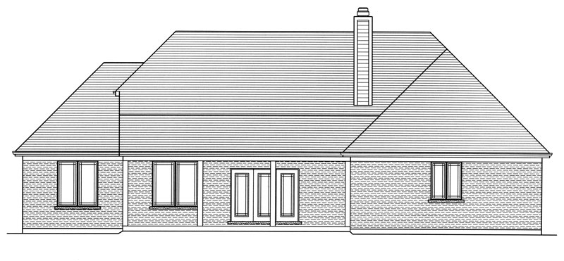 Rear Elevation image of Marquis House Plan