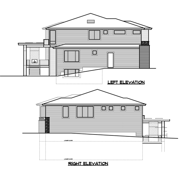 Left and Right Elevation