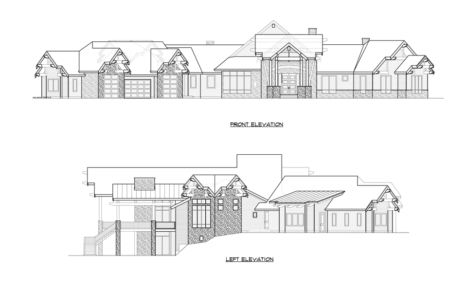 Front Left Elevation image of Aspen Lodge House Plan