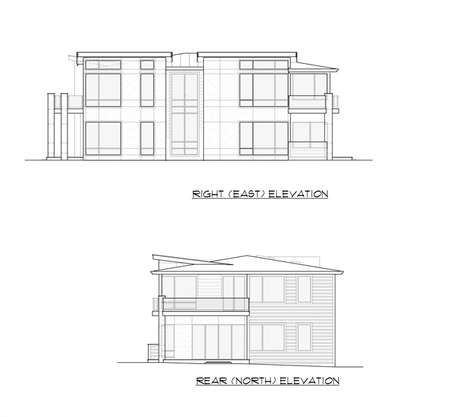 Rear and Right Elevation