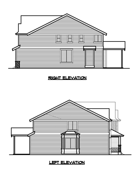 Right and Left Elevation