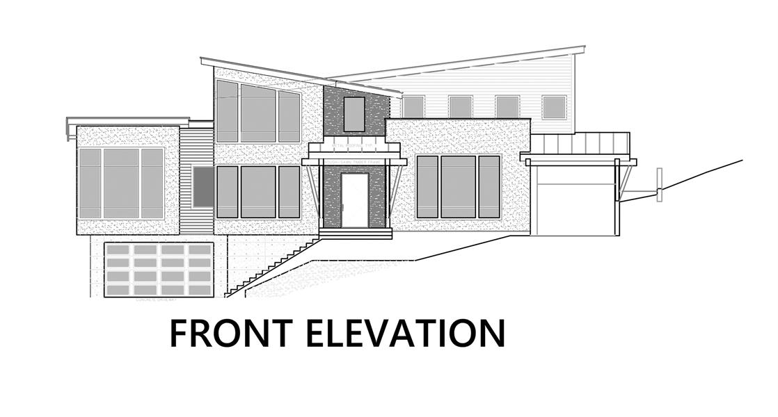 Front Elevation image of Pendenza House Plan
