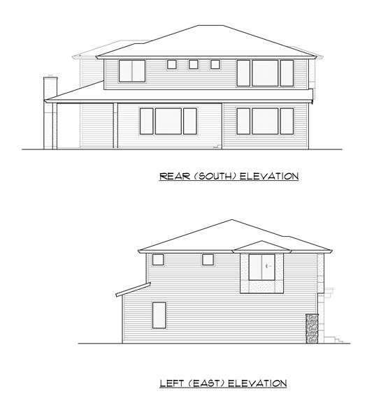 Rear and Left Elevation