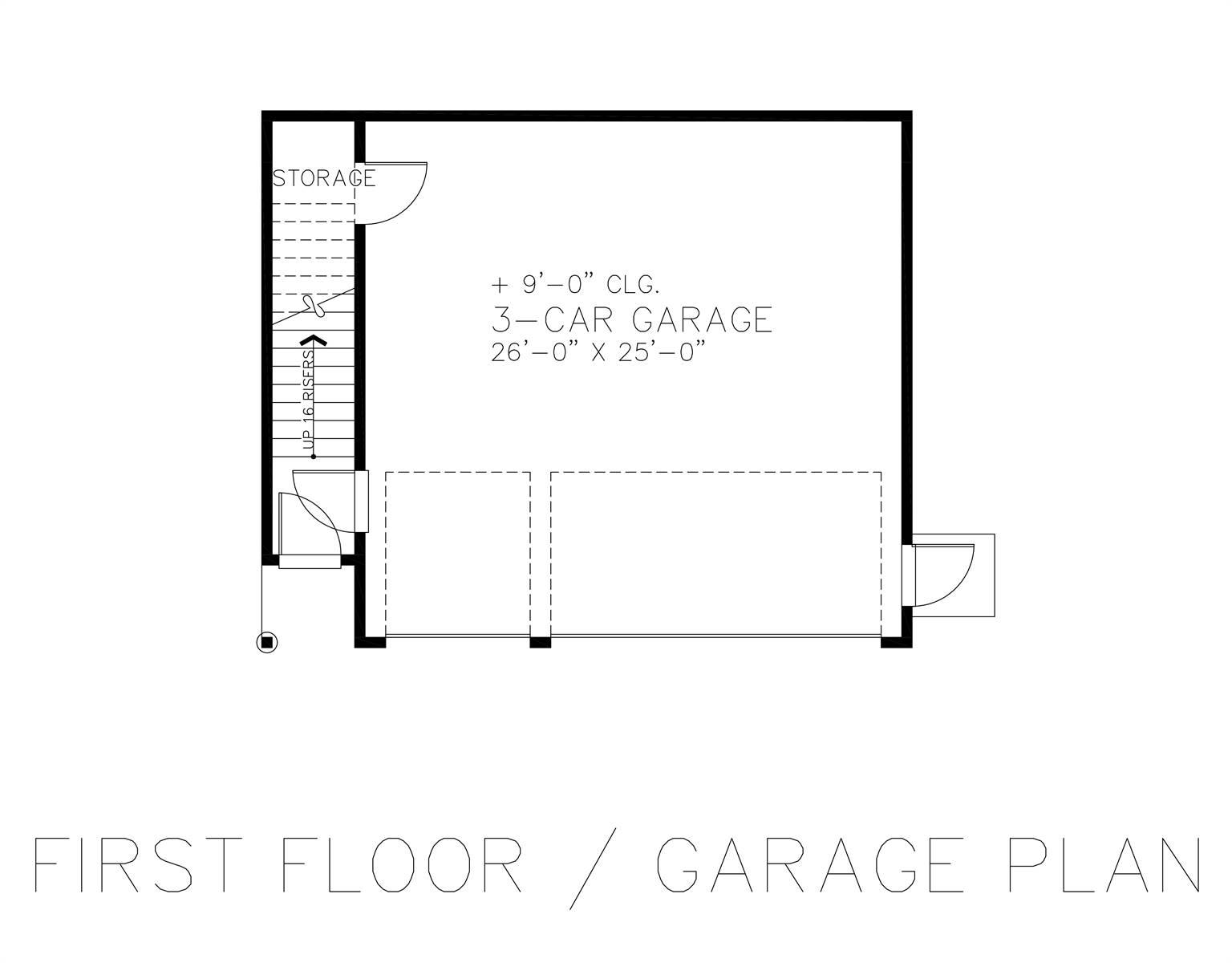 First Floor - Garage