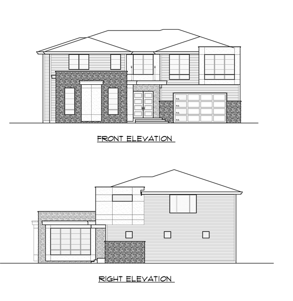 Front and Right Elevation