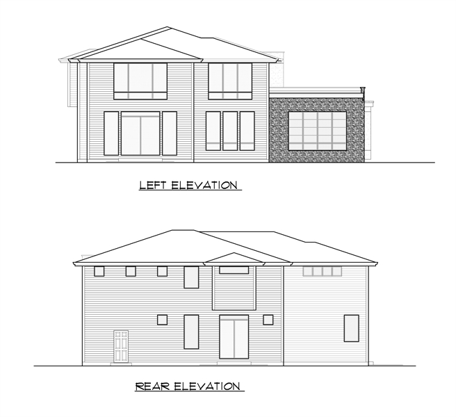 Left and Rear Elevation