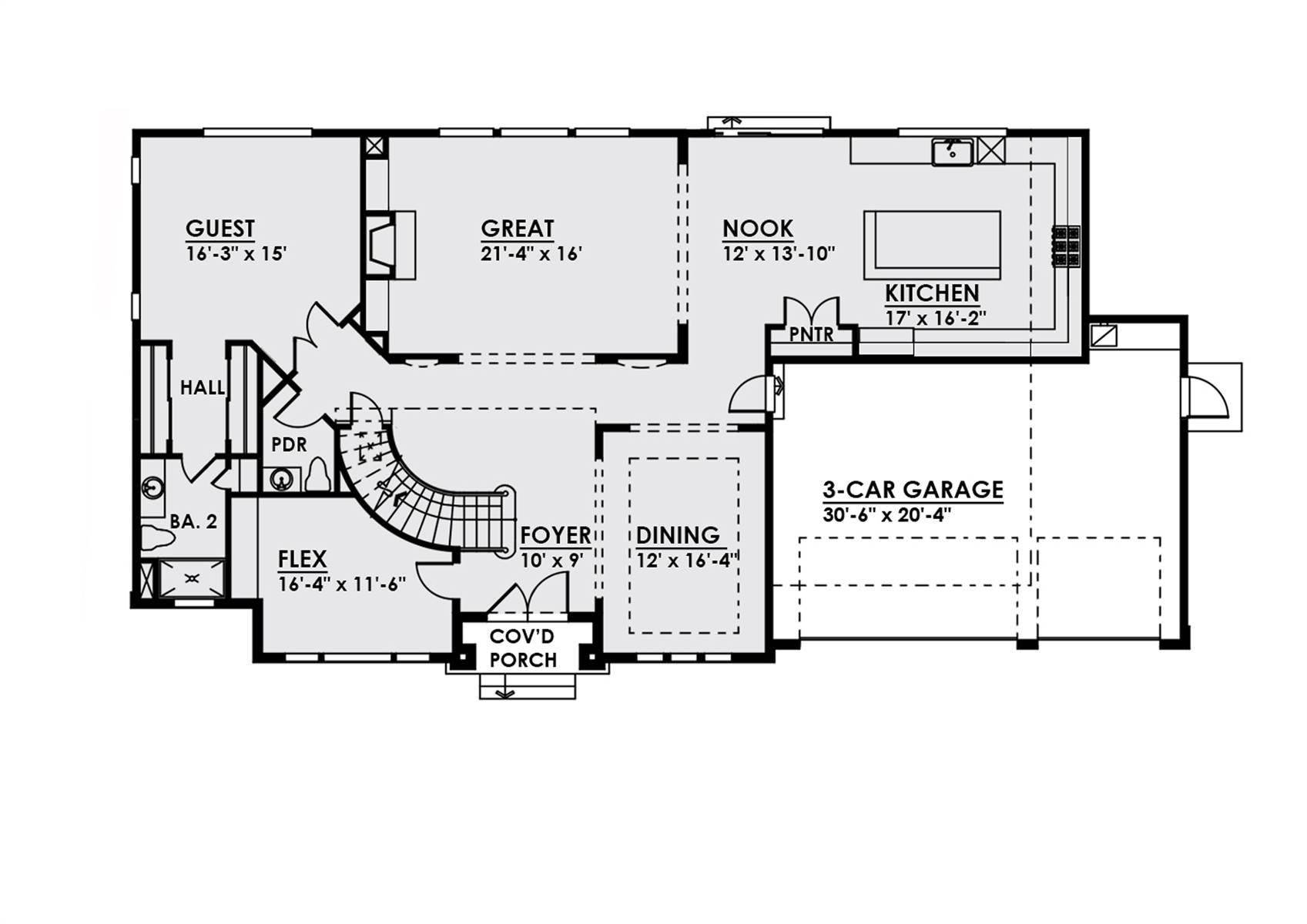 1st Floor image of Plan 4457