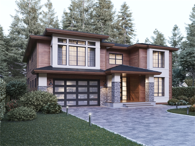 Front Angle image of Marlboro House Plan