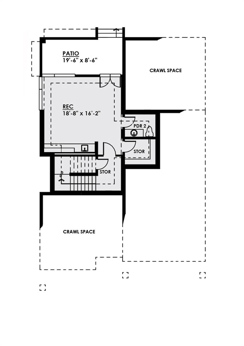 Lower Level Plan by DFD House Plans