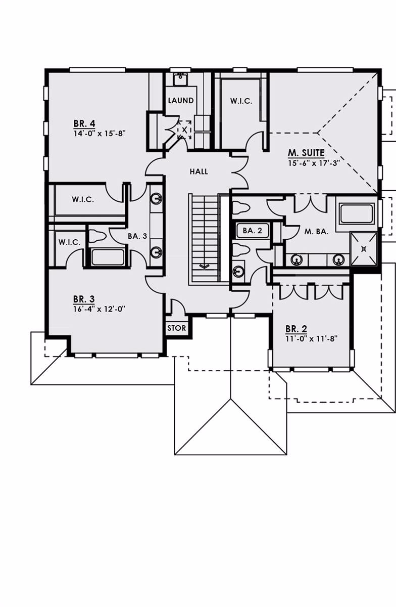 2nd Floor image of The Halliwell House Plan