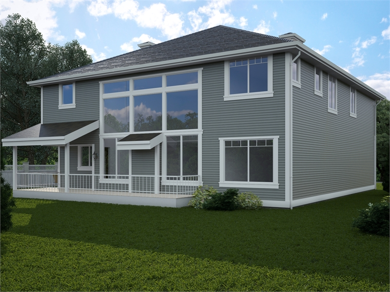 Rear Angle by DFD House Plans