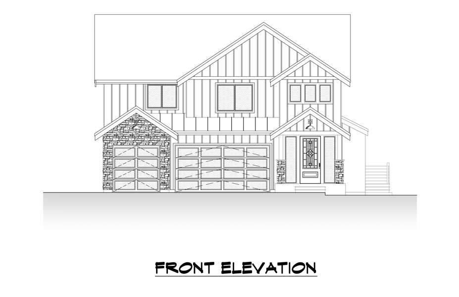Front Elevation image of Tacoma House Plan