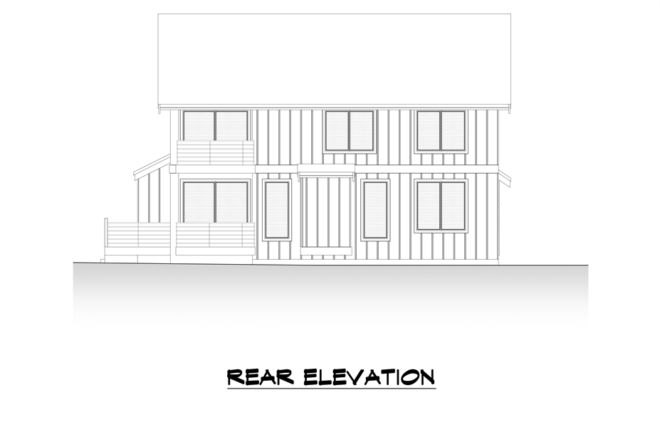 Rear Elevation image of Tacoma House Plan