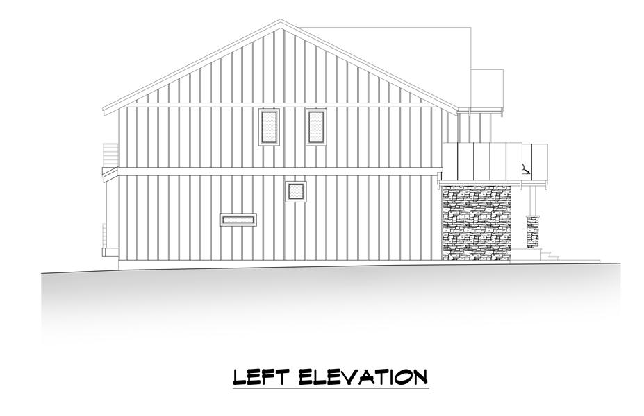 Left Elevation image of Tacoma House Plan