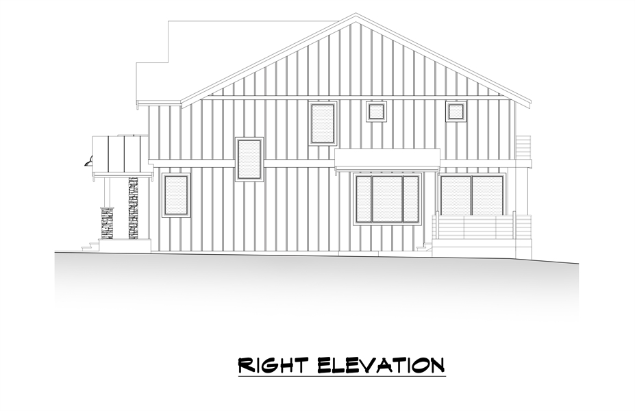 Right Elevation image of Tacoma House Plan