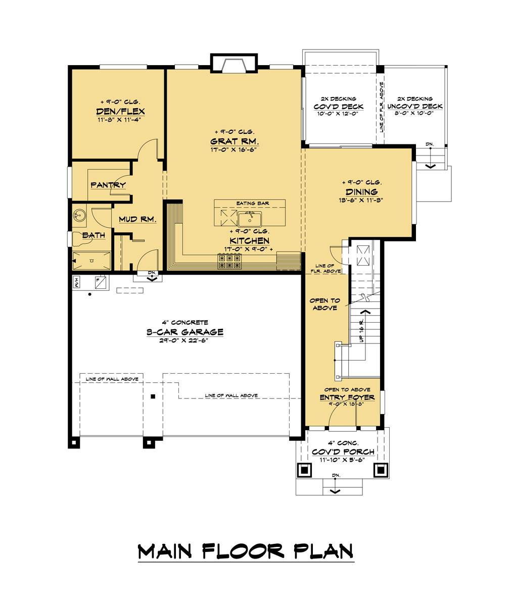 1st Floor image of Tacoma House Plan