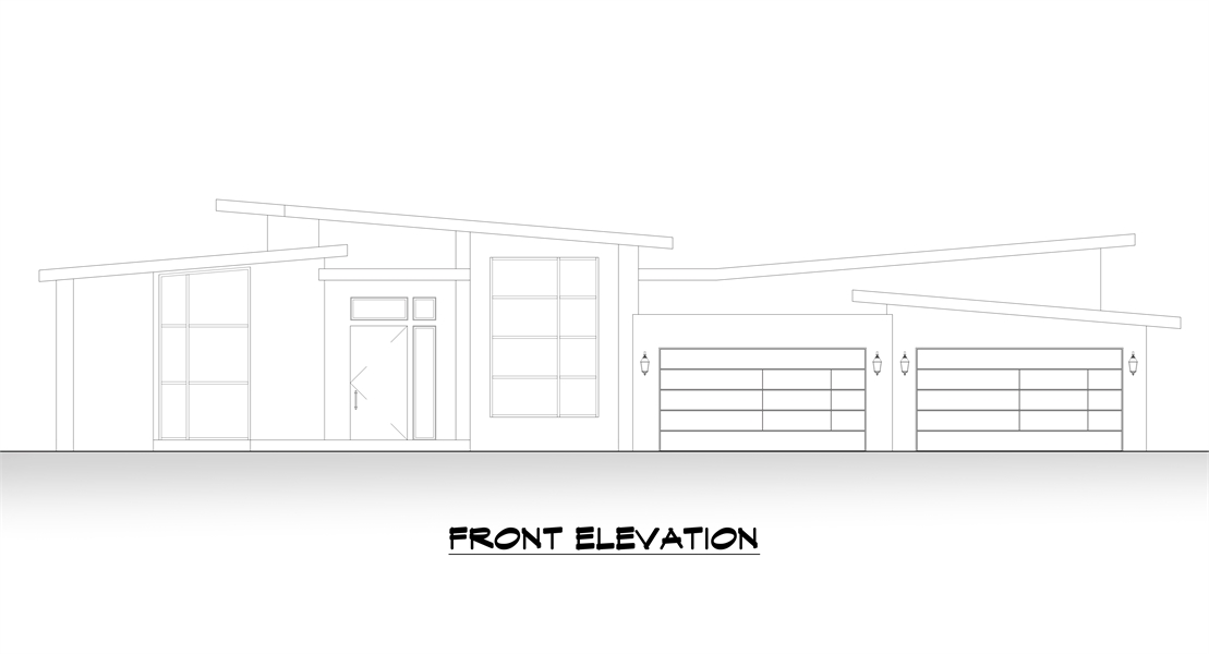 Front Elevation image of Verona House Plan
