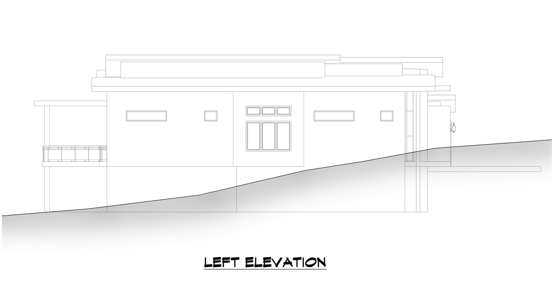 Left Elevation image of Verona House Plan