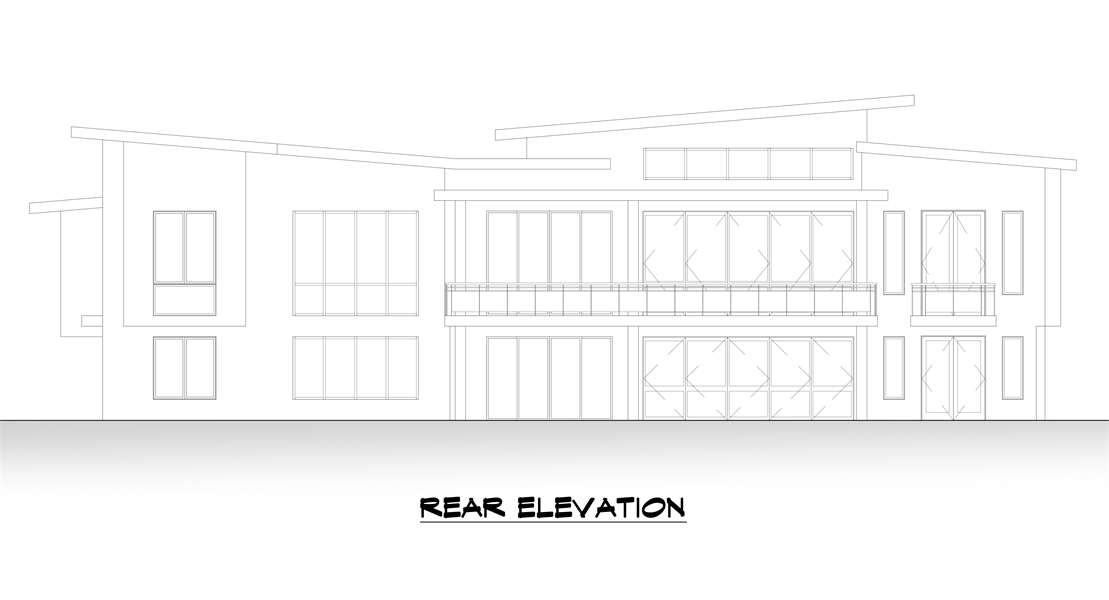 Rear Elevation image of Verona House Plan