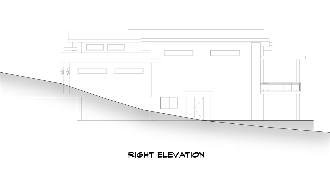 Right Elevation image of Verona House Plan