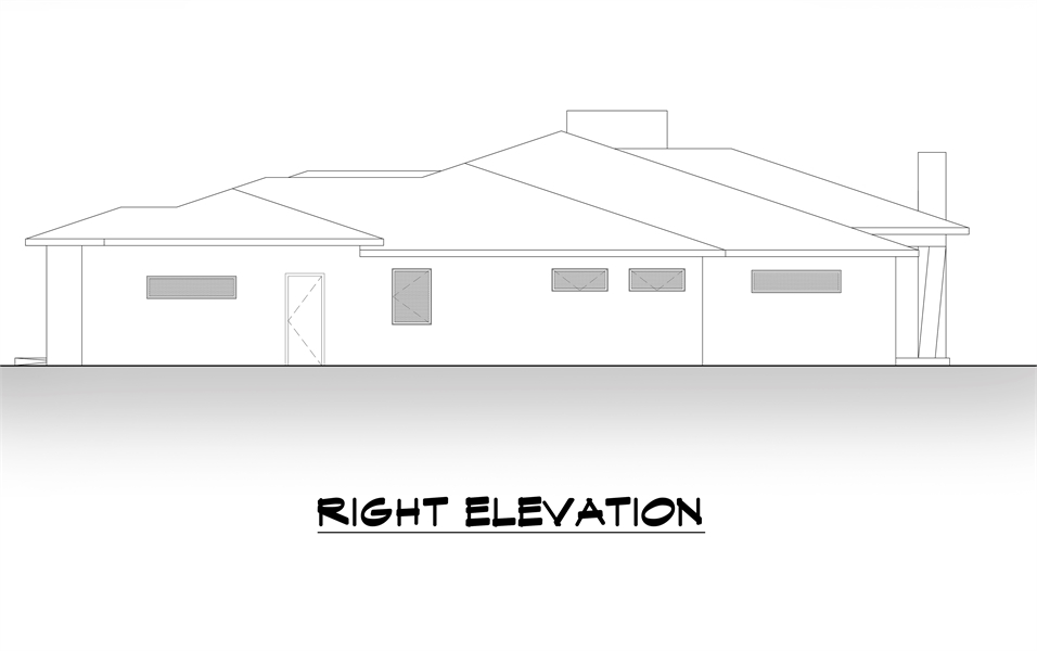 Right Elevation image of Lucca House Plan