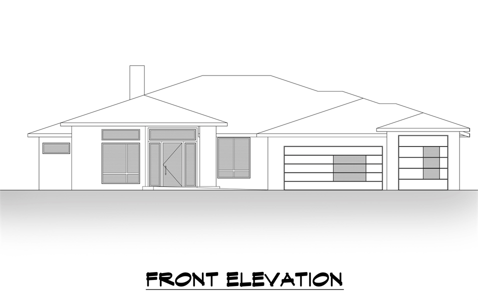 Front Elevation image of Lucca House Plan
